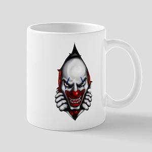 scary clown inside Mugs