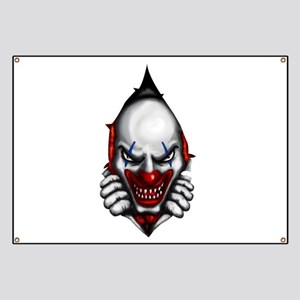 scary clown inside Banner