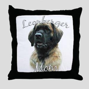 Leonberger Mom2 Throw Pillow