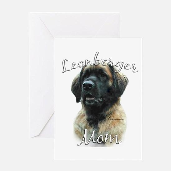 Leonberger Mom2 Greeting Card