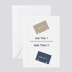 Funky Put Your Notes together Greeting Cards
