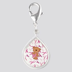 Breast Cancer Awareness Bear Charms
