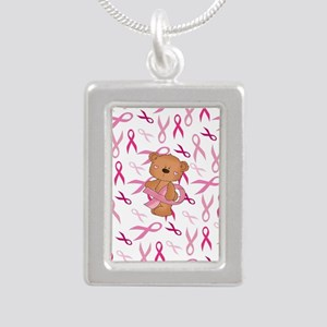 Breast Cancer Awareness Bear Necklaces