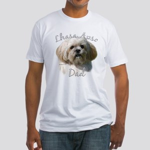 Lhasa Apso Dad2 Fitted T-Shirt