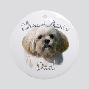 Lhasa Apso Dad2 Ornament (Round)