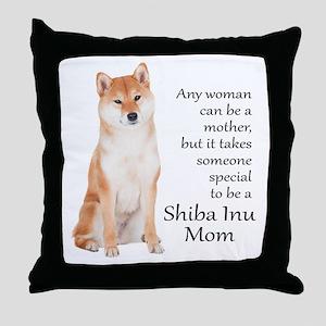 Shiba Inu Mom Throw Pillow
