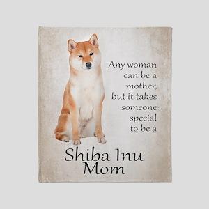 Shiba Inu Mom Throw Blanket