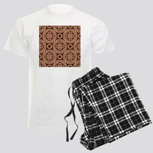 Brown decorative pattern Men's Light Pajamas