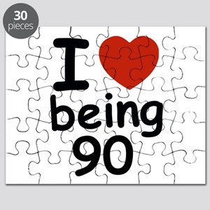 i love being 90 Puzzle