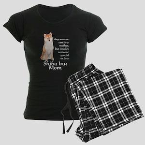 Shiba Inu Mom Women's Dark Pajamas