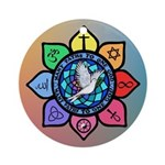 Many Paths to One God Ornament (Round)