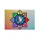 Many Paths to One God Rectangle Magnet (10 pack)