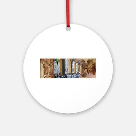Unique Calle Round Ornament