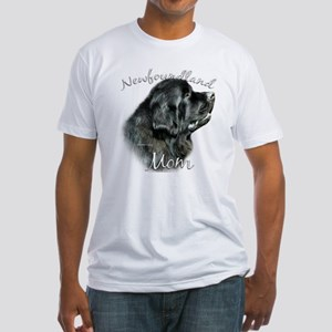 Newfie Mom2 Fitted T-Shirt
