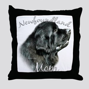 Newfie Mom2 Throw Pillow