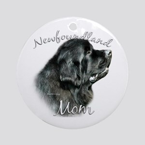 Newfie Mom2 Ornament (Round)