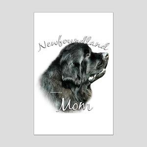 Newfie Mom2 Mini Poster Print