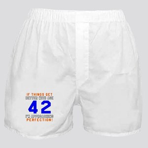 42 I'm Approaching Perfection Birthda Boxer Shorts