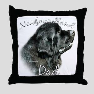 Newfie Dad2 Throw Pillow