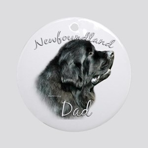 Newfie Dad2 Ornament (Round)