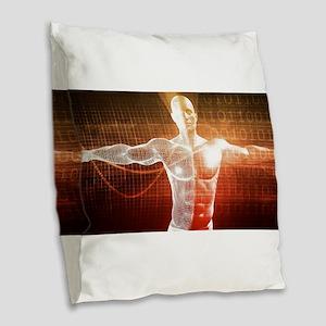 Medical Research o Burlap Throw Pillow