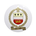 THERIAULT Family Crest Ornament (Round)