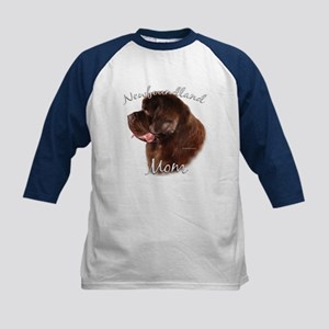 Newfie Mom2 Kids Baseball Jersey