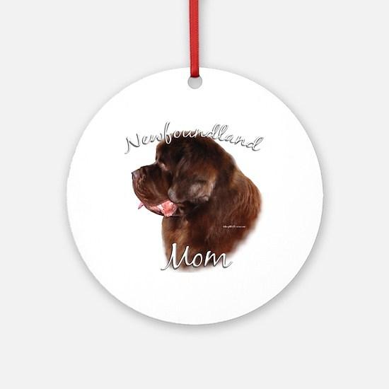 Newfie Mom2 Ornament (Round)