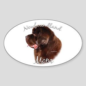 Newfie Mom2 Oval Sticker