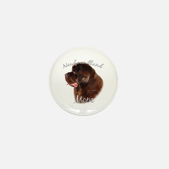 Newfie Mom2 Mini Button