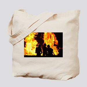 Three firemen Tote Bag