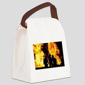 Three firemen Canvas Lunch Bag