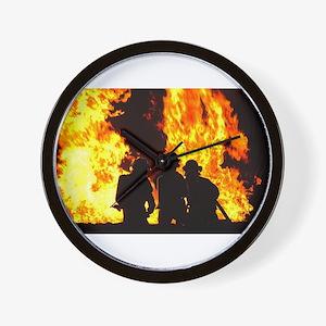 Three firemen Wall Clock