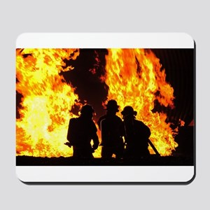 Three firemen Mousepad
