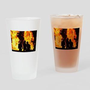 Three firemen Drinking Glass
