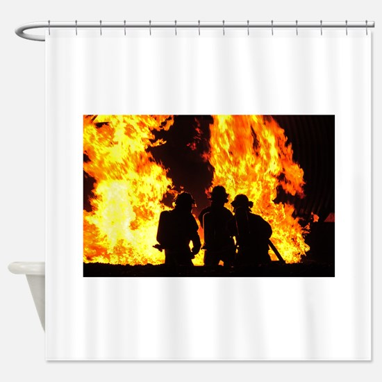Three firemen Shower Curtain