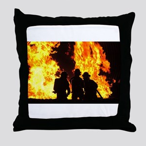Three firemen Throw Pillow