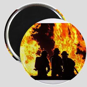Three firemen Magnets