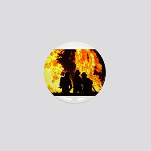 Three firemen Mini Button