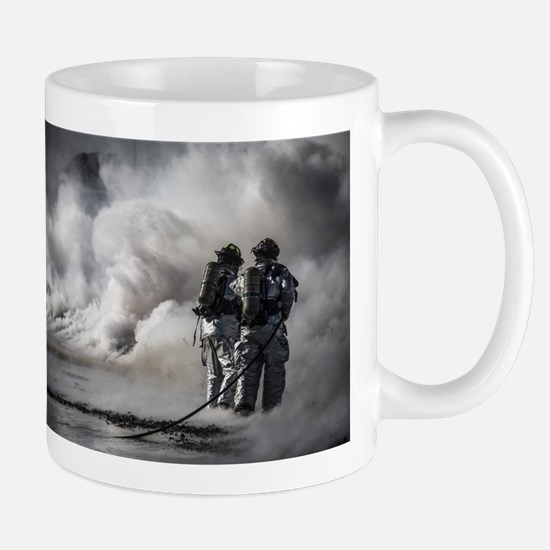 Firefighters (Black and White) Mugs