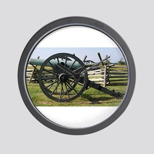 Battlefields of Gettysburg PA Cannon Wall Clock