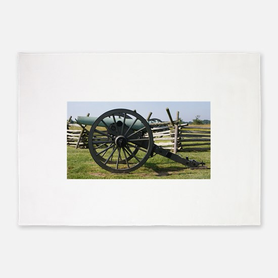 Battlefields of Gettysburg PA Canno 5'x7'Area Rug
