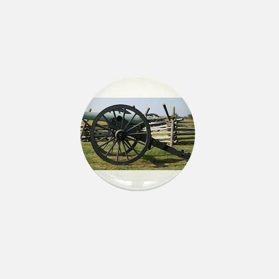 Battlefields of Gettysburg PA Cannon Mini Button