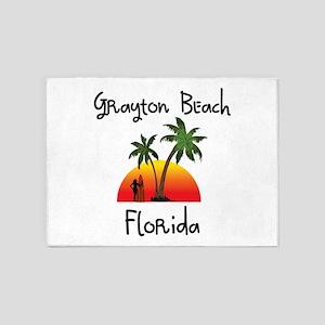 Grayton Beach Florida 5'x7'Area Rug