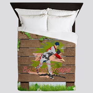Baseball Groupie Queen Duvet