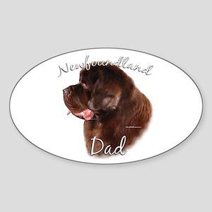 Newfie Dad2 Oval Sticker
