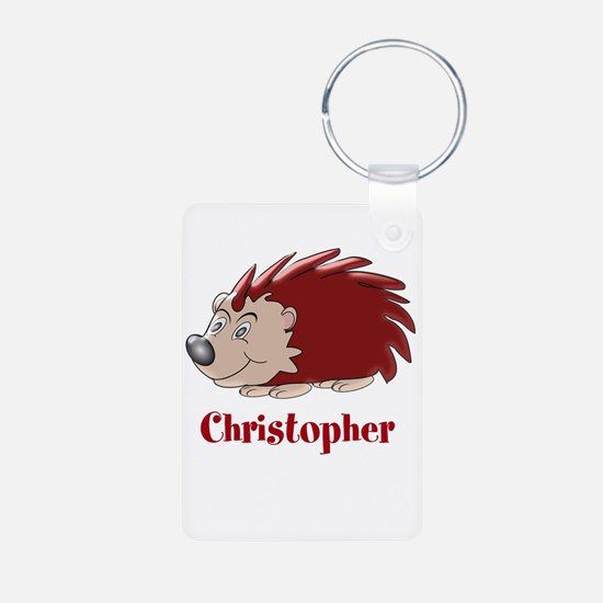 Personalized Hedgehog Keychains