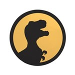 "T Rex Howling 3.5"" Button (100 pack)"