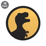 "T Rex Howling 3.5"" Button (10 pack)"