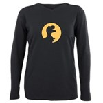 T Rex Howling Plus Size Long Sleeve Tee